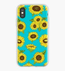 Grunge Sunflower Pattern iPhone Case