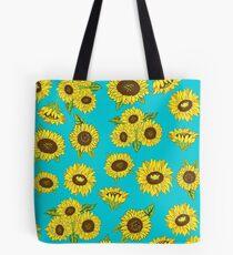 Grunge Sunflower Pattern Tote Bag
