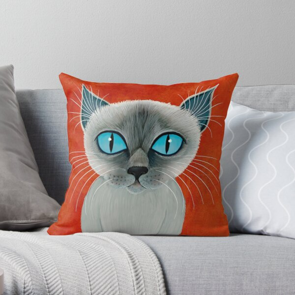 The Queen of Siam Throw Pillow