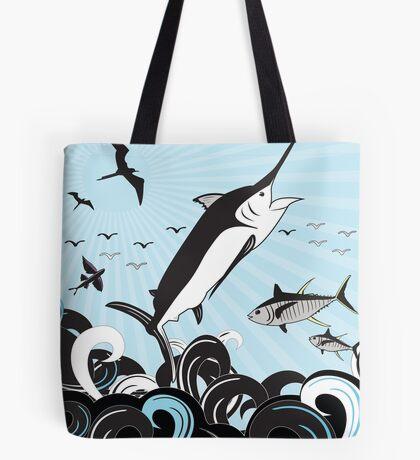 Marlin Scene Tote Bag