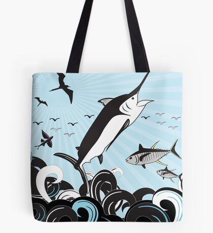 Marlin Scene Tote Bag