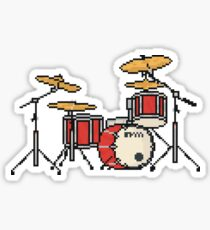 Pixel Firestorm Fighters Red Drums Sticker