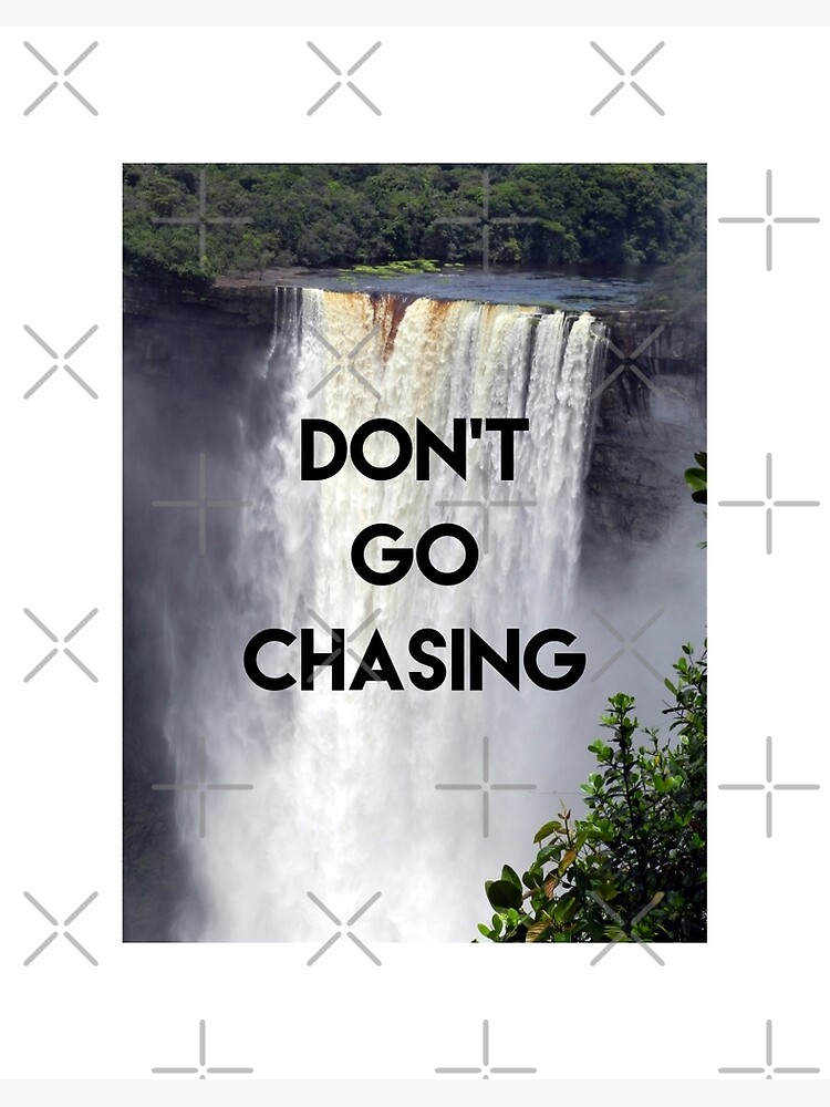 Guyana Kaieteur Falls Don T Go Chasing Waterfalls Art Board Print By Ravishdesigns Redbubble