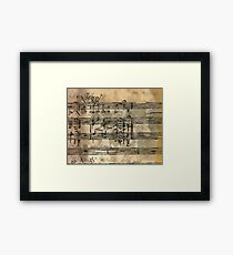 Notes Framed Print