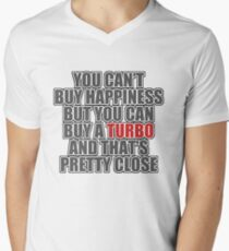 Happiness is Turbo Men's V-Neck T-Shirt