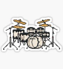Pixel See Through Drums Sticker