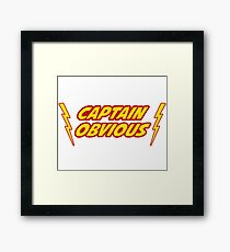 Captain Obvious Superhero Framed Print