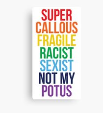 Not My Potus Canvas Print