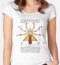 vitruvian man Women's Fitted Scoop T-Shirt