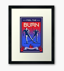 Feel the Burn cross country ski Framed Print