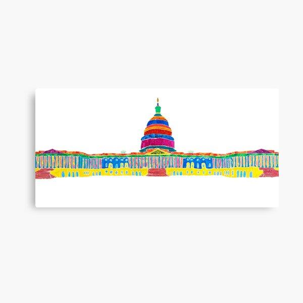 Colorful Capitol Canvas Print