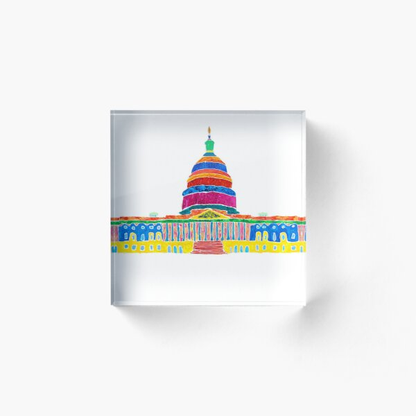 Colorful Capitol Acrylic Block