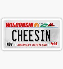 License Plate - CHEESIN Sticker