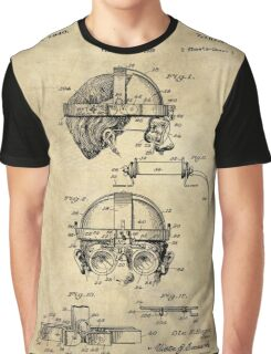 Antique Welders Goggles blueprint drawing, 1938 industrial Graphic T-Shirt