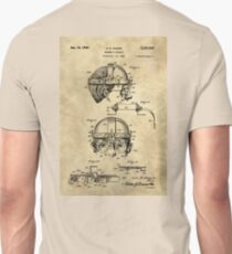 Antique Welders Goggles blueprint drawing, 1938 industrial Unisex T-Shirt