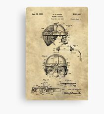 Antique Welders Goggles blueprint drawing, 1938 industrial Canvas Print