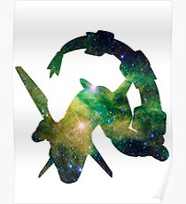 Rayquaza used Dragon Pulse Poster