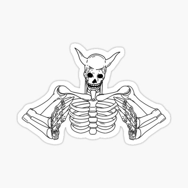 SUSANOO SKELETON (PLAIN, WHITE) Sticker