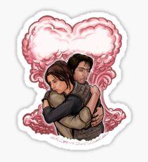 Love in Space Sticker