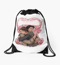 Love in Space Drawstring Bag