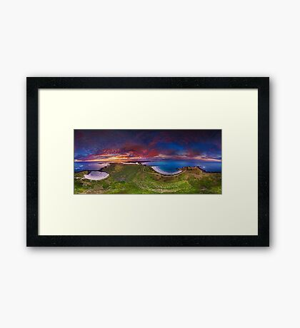 Griffiths Island Sunset Framed Print