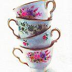 Floral teacups by HelgaMcLeod