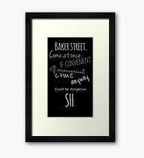 Sherlock (Come Anyway) Framed Print