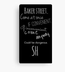 Sherlock (Come Anyway) Canvas Print