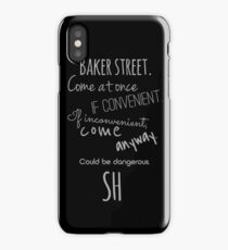 Sherlock (Come Anyway) iPhone Case/Skin