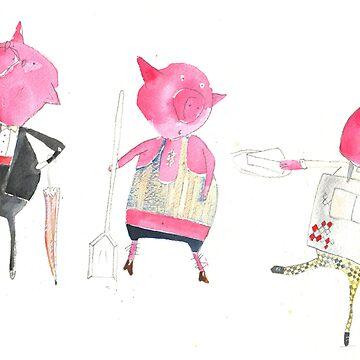 Three little pigs by charlielance