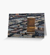 Aerial view of Trump International Hotel Las Vegas, Nevada, USA Greeting Card