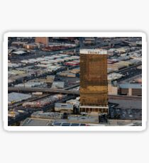 Aerial view of Trump International Hotel Las Vegas, Nevada, USA Sticker