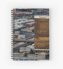 Aerial view of Trump International Hotel Las Vegas, Nevada, USA Spiral Notebook
