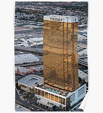 Aerial view of Trump International Hotel Las Vegas, Nevada, USA Poster