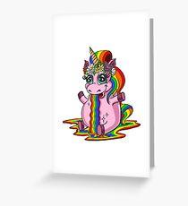 Snapchat Unicorn Greeting Card