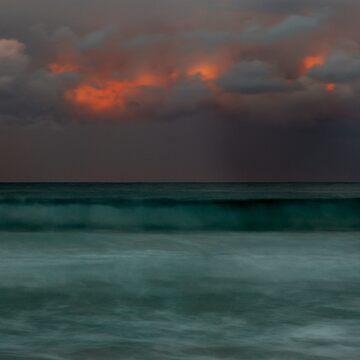 Beach storm by mrmatt43
