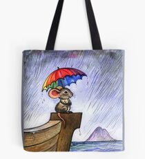 Little rainbow mouse Tote Bag