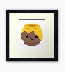 Honey Emoji Happy Smiling Face Framed Print
