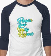 PLUR - Peace Love Unity Respect Men's Baseball ¾ T-Shirt