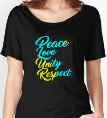 PLUR - Peace Love Unity Respect Women's Relaxed Fit T-Shirt