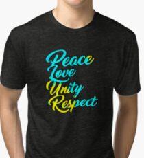 PLUR - Peace Love Unity Respect Tri-blend T-Shirt