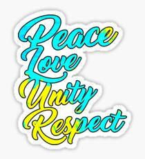 PLUR - Peace Love Unity Respect Sticker