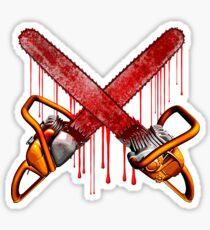 Bloody Zombie Chainsaws Sticker