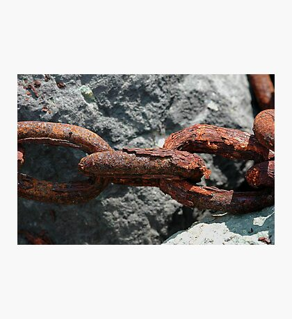 Chained to the sea Photographic Print