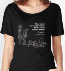 Rick and Morty kill themselves in white Women's Relaxed Fit T-Shirt