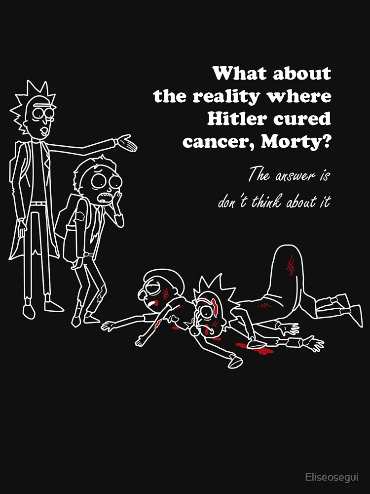 Rick and Morty kill themselves in white | Unisex T-Shirt