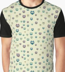 CUTE OWLS FLAT PATTERN Graphic T-Shirt