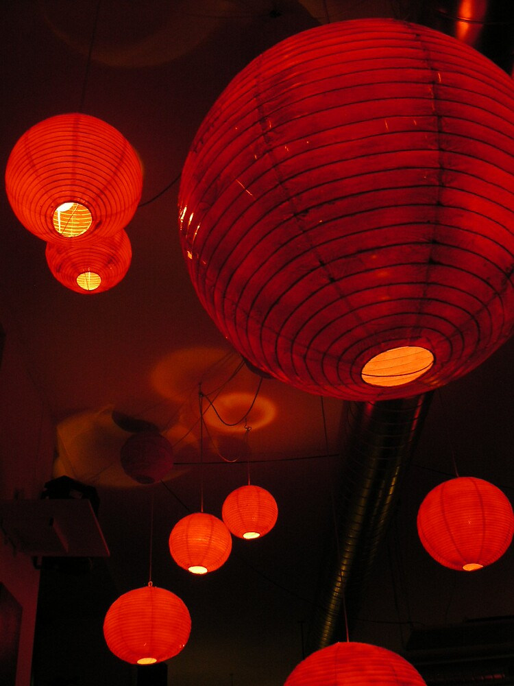 red lanterns by Ezizza