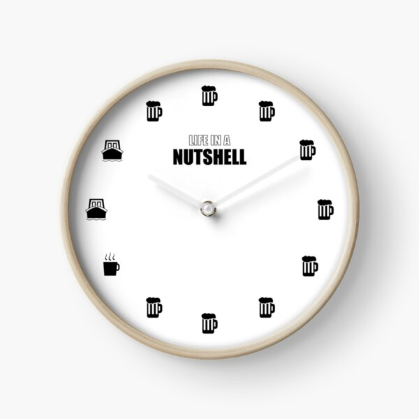 Life in a Nutshell - Daily Schedule Clock Clock