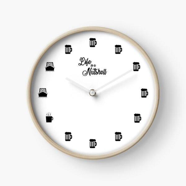 Life in a Nutshell - Daily Schedule Script Clock Clock